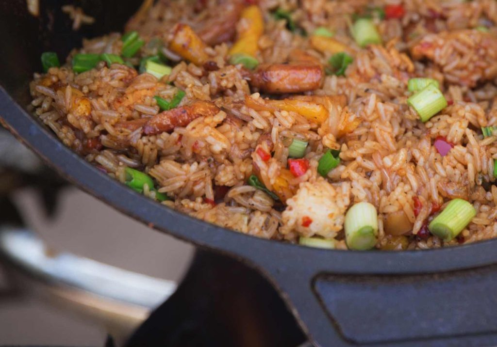 Pineapple Pork and Chicken Fried Rice